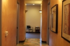 View from hallway into therapy area